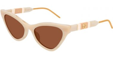 Sunglasses - Gucci - GG0597S - 005 BEIGE // BROWN