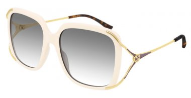 Sunglasses - Gucci - GG0647S - 004 IVORY // GREY GRADIENT
