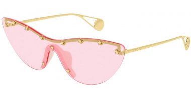 Sunglasses - Gucci - GG0666S - 004 GOLD // PINK
