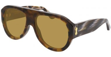 Sunglasses - Gucci - GG0668S - 004 BROWN SPOTTED // GREEN