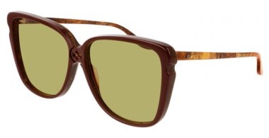 Sunglasses - Gucci - GG0709S - 001 BURGUNDY // GREEN