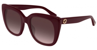 Sunglasses - Gucci - GG0163S - 007 BURGUNDY // BROWN GRADIENT