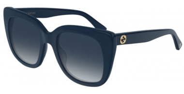 Sunglasses - Gucci - GG0163S - 008 BLUE // GREY GRADIENT