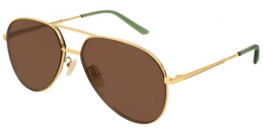 Sunglasses - Gucci - GG0356S - 002 Calibre59 GOLD // BROWN