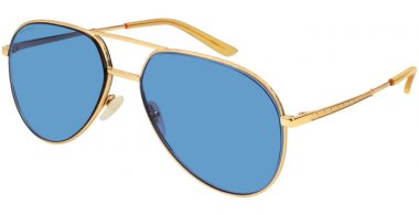 Sunglasses - Gucci - GG0356S - 003 Calibre59 GOLD // BLUE