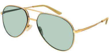 Sunglasses - Gucci - GG0356S - 004 Calibre59 GOLD // LIGHT GREEN