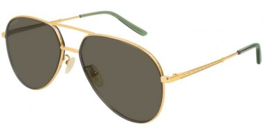 Sunglasses - Gucci - GG0356S - 005 Calibre61 GOLD // GREY