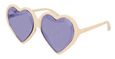 Sunglasses - Gucci - GG0360S - 004 IVORY // VIOLET
