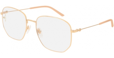 Sunglasses - Gucci - GG0396S - 001 GOLD // TRANSPARENT