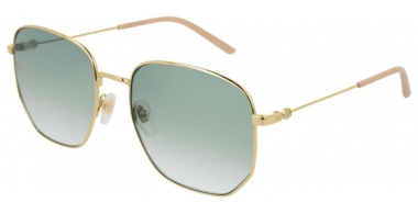 Sunglasses - Gucci - GG0396S - 002 GOLD // GREEN GRADIENT