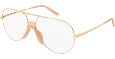 Sunglasses - Gucci - GG0432S - 001 GOLD // TRANSPARENT