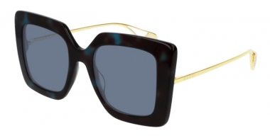 Sunglasses - Gucci - GG0435S - 004 HAVANA BLUE // LIGHT BLUE