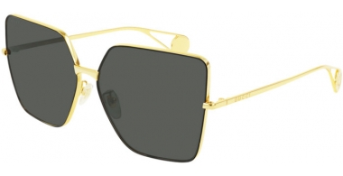 Sunglasses - Gucci - GG0436S - 002 GOLD // GREY