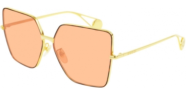 Sunglasses - Gucci - GG0436S - 003 GOLD // ORANGE