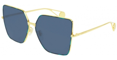 Sunglasses - Gucci - GG0436S - 004 GOLD // BLUE