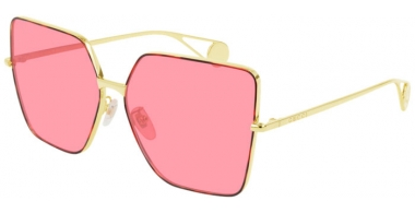 Sunglasses - Gucci - GG0436S - 005  GOLD // PINK