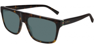 Sunglasses - Gucci - GG0450S - 002 DARK HAVANA // GREEN