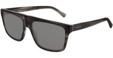 Sunglasses - Gucci - GG0450S - 005 GREY STRIPED // GREY