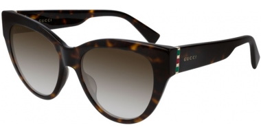 Sunglasses - Gucci - GG0460S - 002 DARK HAVANA // BROWN GRADIENT
