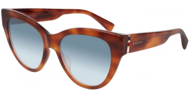 Sunglasses - Gucci - GG0460S - 003 LIGHT HAVANA // BLUE GRADIENT