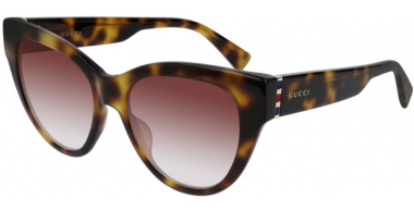 Sunglasses - Gucci - GG0460S - 004 HAVANA // BURGUNDY GRADIENT