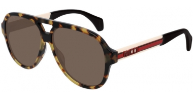 Sunglasses - Gucci - GG0463S - 005 HAVANA IVORY // BROWN