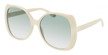 Sunglasses - Gucci - GG0472S - 005 IVORY // GREEN GRADIENT