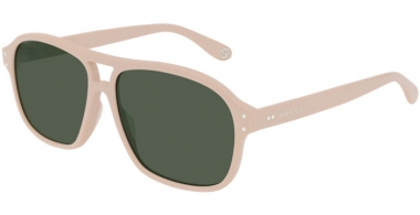 Sunglasses - Gucci - GG0475S - 006 IVORY // GREEN