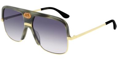 Sunglasses - Gucci - GG0478S - 004 GREEN SPOTTED // BLUE GRADIENT