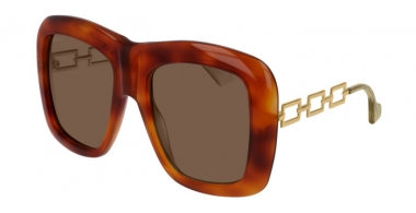 Sunglasses - Gucci - GG0499S - 002 HAVANA GOLD // BROWN