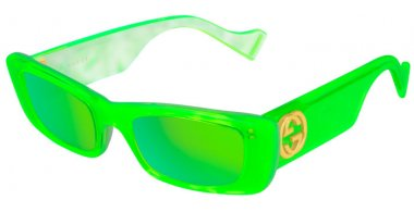 Sunglasses - Gucci - GG0516S - 006 GREEN // GREEN MIRROR