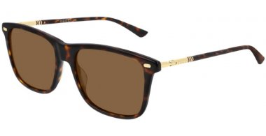 Sunglasses - Gucci - GG0518S - 003 HAVANA GOLD // BROWN POLARIZED