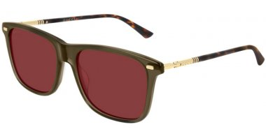 Sunglasses - Gucci - GG0518S - 004 GREEN GOLD // RED