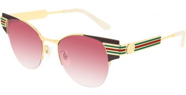 Sunglasses - Gucci - GG0521S - 003 BROWN GOLD // RED GRADIENT