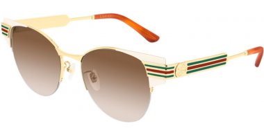 Sunglasses - Gucci - GG0521S - 004 IVORY GOLD // BROWN GRADIENT