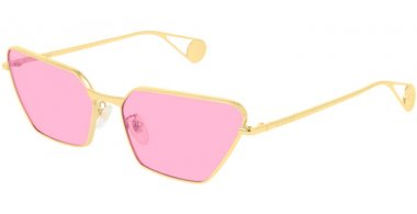 Sunglasses - Gucci - GG0538S - 005 GOLD // PINK