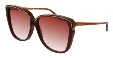 Sunglasses - Gucci - GG0709S - 005 BURGUNDY BROWN // RED GRADIENT
