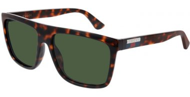 Sunglasses - Gucci - GG0748S - 003 HAVANA // GREEN
