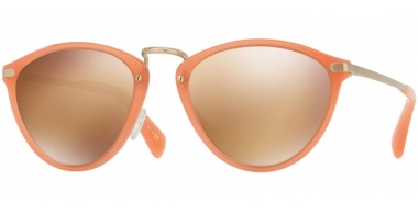 Sunglasses - Paul Smith - PM8260S HAWLEY - 15487T SEMI MATTE CORAL GOLD // GOLD MIRROR