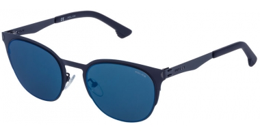 Sunglasses - Police - SPL341 FLOW 3 - 1HLB DARK BLUE // GREY MIRROR BLUE