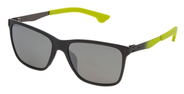 Sunglasses - Police - SPL365 FLOW 2 - ACPP  SHINY GREY // GREY MIRROR SILVER POLARIZED
