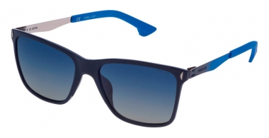 Sunglasses - Police - SPL365 FLOW 2 - U27P  SHINY BLUE // BLUE GRADIENT POLARIZED