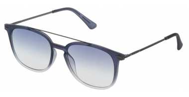 Sunglasses - Police - SPL360N HIGHWAY TWO 2 - 0WT6  MATTE TRANSPARENT BLUE // BLUE GRADIENT ANTIREFLECTION