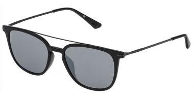 Sunglasses - Police - SPL360N HIGHWAY TWO 2 - Z42X SHINY BLACK // GREY MIRROR SILVER ANTIREFLECTION