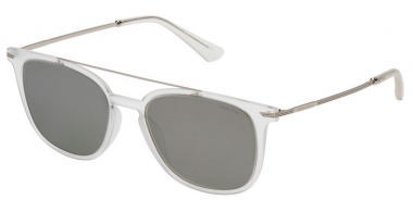 Sunglasses - Police - SPL360N HIGHWAY TWO 2 - Z69X  SEMI MATTE CRYSTAL // GREY MIRROR SILVER ANTIREFLECTION
