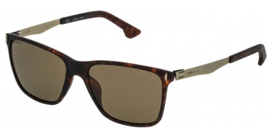 Sunglasses - Police - SPL365 FLOW 2 - 978P SHINY DARK HAVANA // BROWN POLARIZED