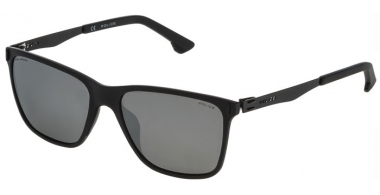 Sunglasses - Police - SPL365 FLOW 2 - U28P SEMI MATTE BLACK // GREY POLARIZED