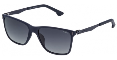 Sunglasses - Police - SPL365 FLOW 2 - U43P SHINY DARK BLUE // GREY GRADIENT POLARIZED