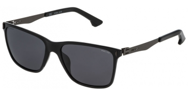 Sunglasses - Police - SPL365 FLOW 2 - Z42P SHINY BLACK // GREY POLARIZED