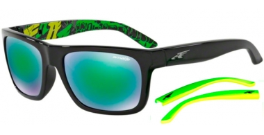 Gafas de Sol - Arnette - AN4176 DROPOUT - 22063R BLACK // GREY MIRROR GREEN